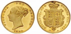 Half gold sovereign Victoria gold coin